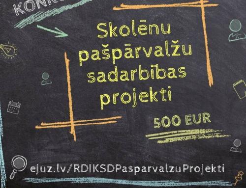 Rīgas skolēnu pašpārvalžu sadarbības projektu konkurss!