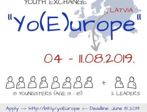 "Piesakies jauniešu apmaiņai ""YO(E)UROPE"""